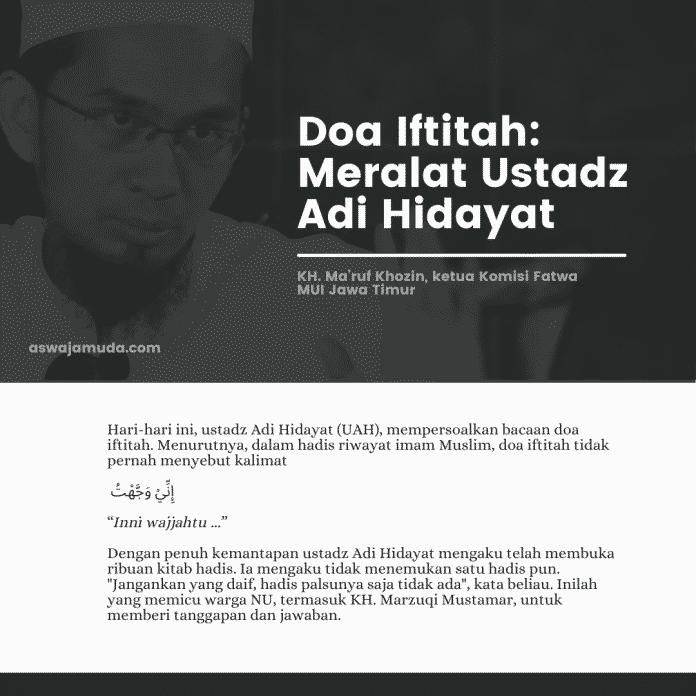 Doa iftitah adi hidayat